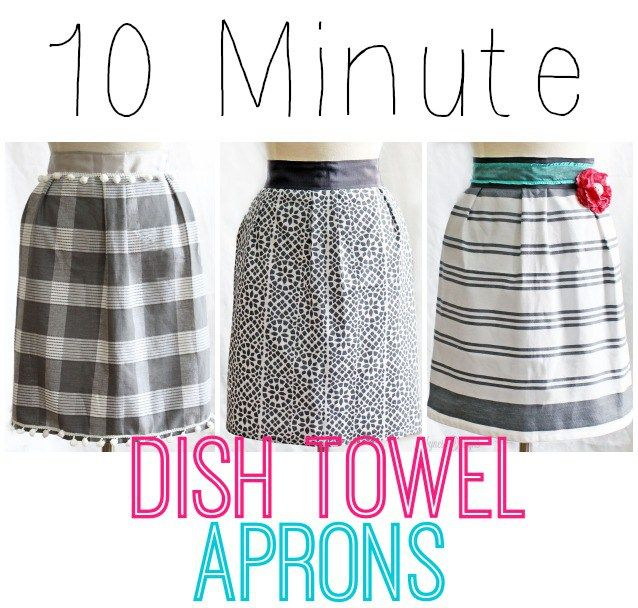 """1 dish towel, 85"""" of ribbon, and 10 minutes of your time! Makes a cheap and easy… More"""