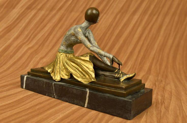 SIGNED BRONZE ART NOUVEAU DECO CHIPARUS STATUE FIGURINE SCULPTURE FIGURE GIFT