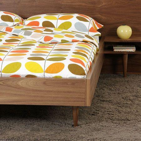 Orla Kiely's signature Multi Stem print bedding.