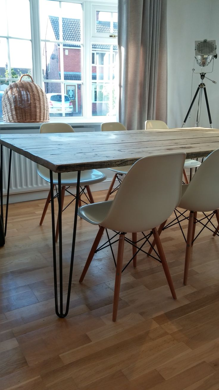 My own personal scaffold board, hairpin leg table. So easy to do even for a novice and so happy with the outcome....happy to share methods with anyone.