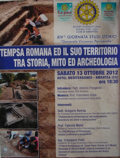 Tempsa Romana ed il suo territorio, tra storia, mito ed archeologia. Il convegno ad Amantea il prossimo 13 ottobre