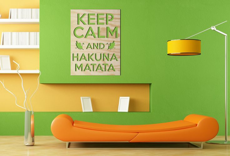 Keep Calm and Hakuna Matata! Napis 3D do Twojego salonu, sypialni, przedpokoju. Z pewnością nieraz wywoła uśmiech na twarzach gości :) #dekoracja #napis3D #napis #na #ścianę