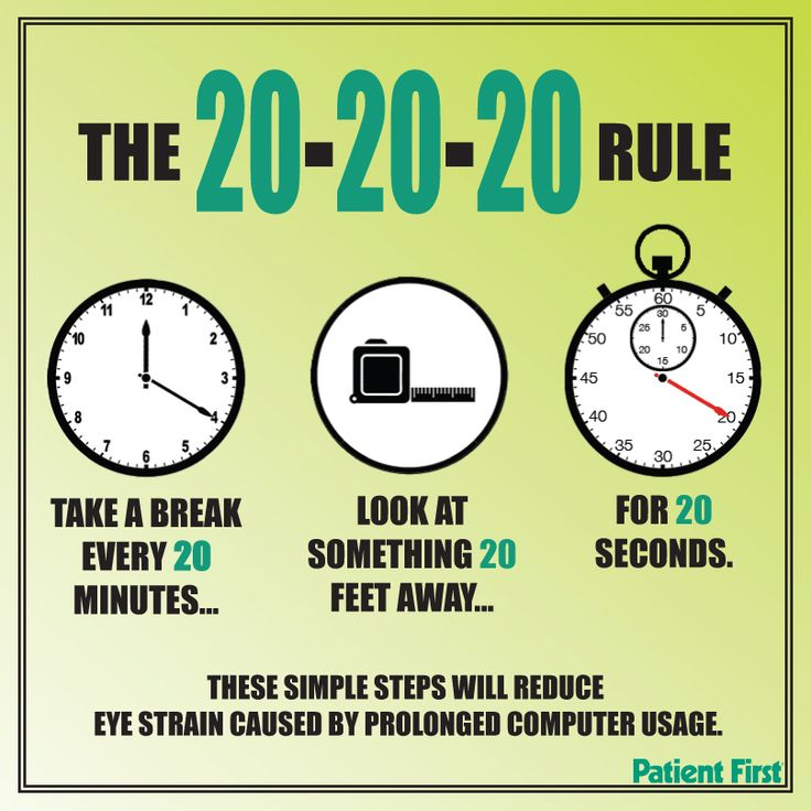 how to stop tired eyes computer