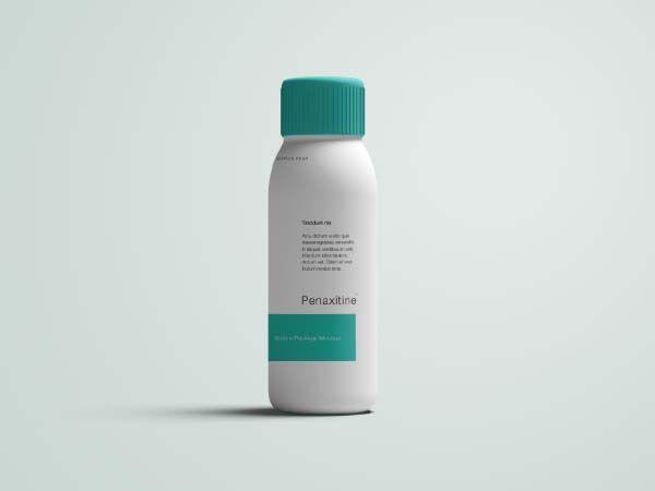 Medicine bottle mockup psd