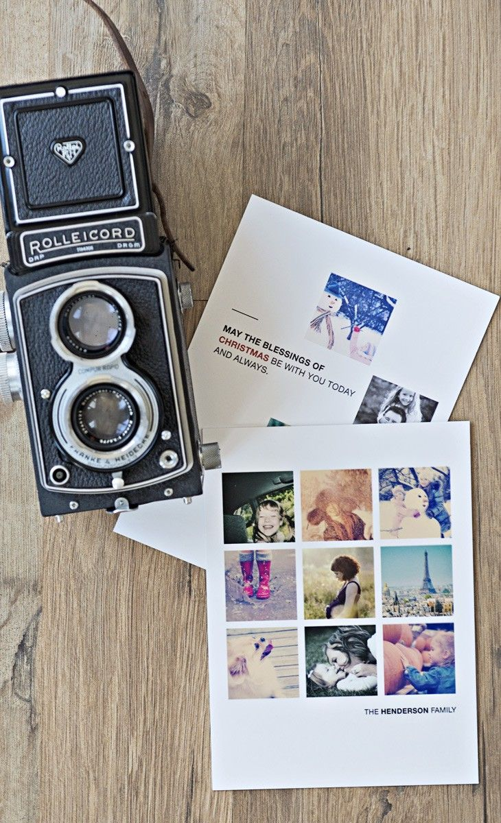 Make personalised Christmas cards from your Instagram photos - with free designer assistance Paper Culture! Awesome idea for the holidays.