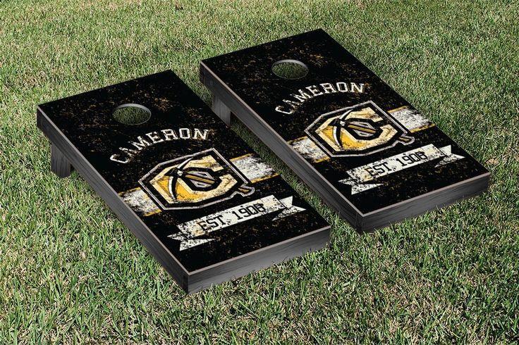 Cameron University Aggies Rustic Established Banner Cornhole Game