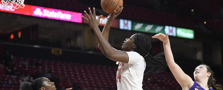 Junior Brianna Frasier and sophomore Stephanie Jones each notched their first career double-doubles as the No. 15 Maryland women's basketball team opened the 2017-18 season with a 91-58 win over Albany on Friday evening.