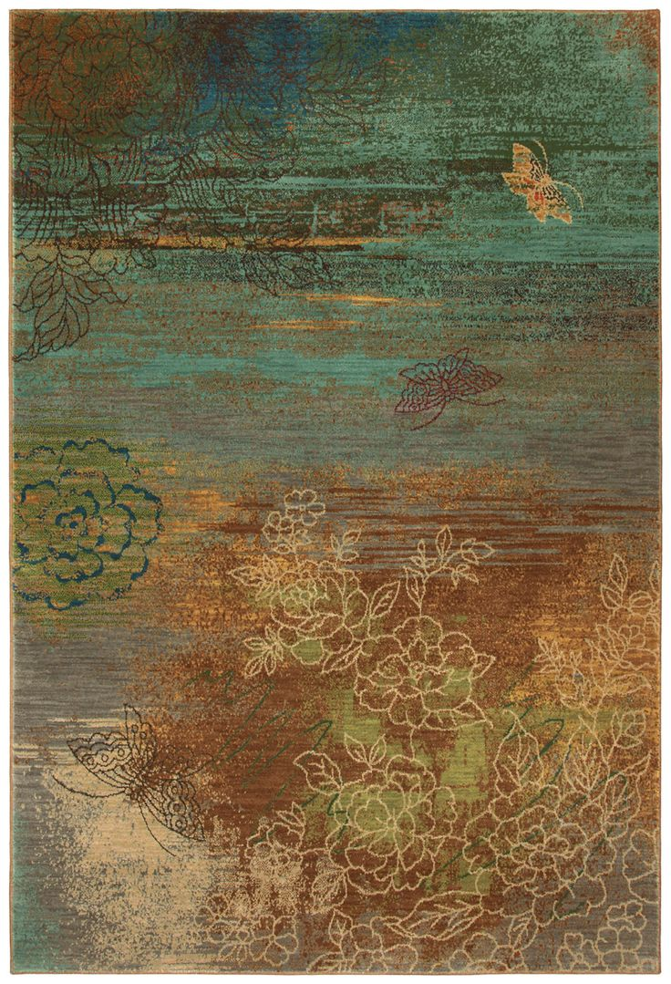 Dining Room Rugs This nature inspired area rug brings a unique look to any room The contrasting colors