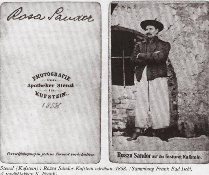 Rózsa Sándor, 1858