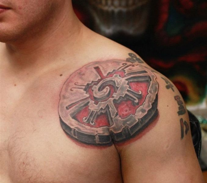 Cool mayan symbol tattoos for men tattoos pinterest for 3d stone tattoo design