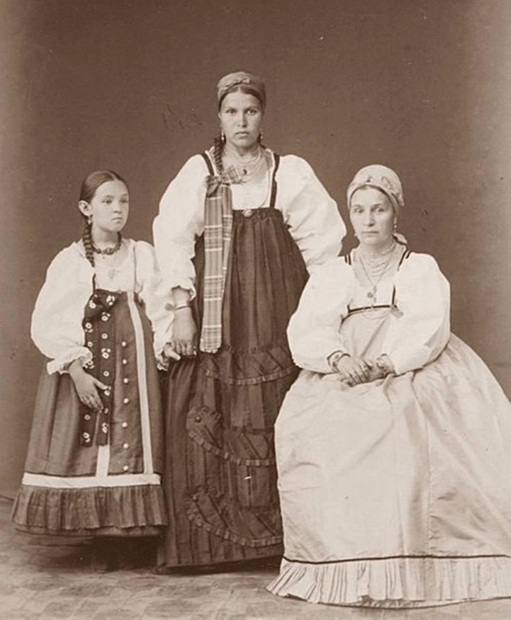Крестьянки села Кандалакша на Белом море . 1887г.
