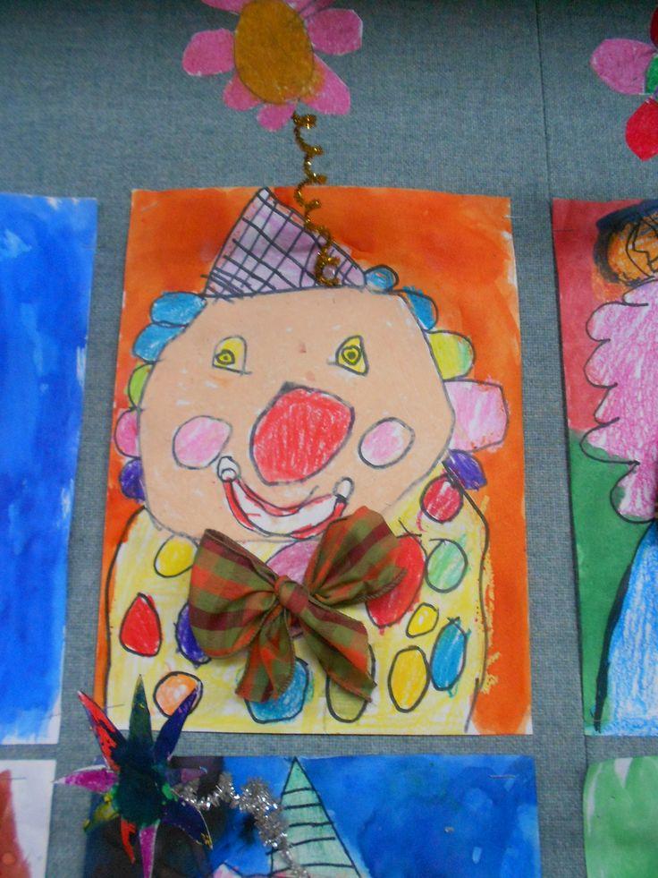 1st grade clown art