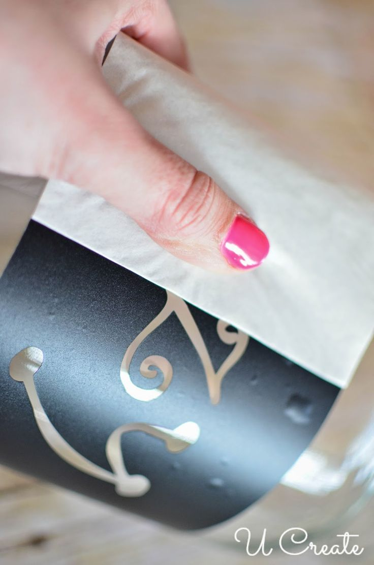 How to Glass Etch with Vinyl Stencils - perfect to DIY personalized gifts!