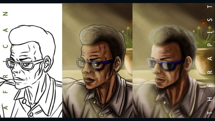 Digital Painting Tutorial How to make Your digital drawing look like a d...