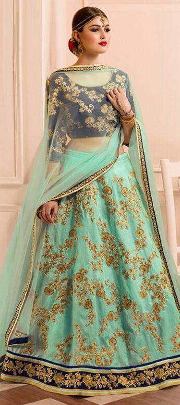 721719: Green  color family Brides maid Lehenga, Mehendi & Sangeet Lehenga .