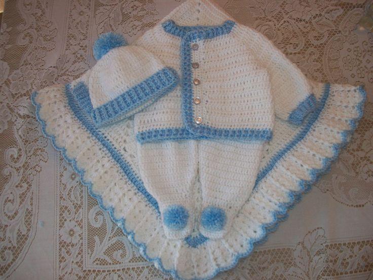 Baby Boy Crochet Blanket Blue
