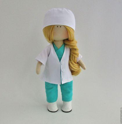 Коллекционные куклы ручной работы. Интерьерная кукла врач. Светлана Кладикова. Интернет-магазин Ярмарка Мастеров. Белый, кукла интерьерная