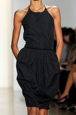 LBD- Sophie Theallet Spring 2013 - basic black but not-so-basic shape