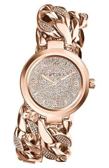 Michael Kors 'Ellie' Pavé Wrap Chain Link Watch, 38mm available at #Nordstrom