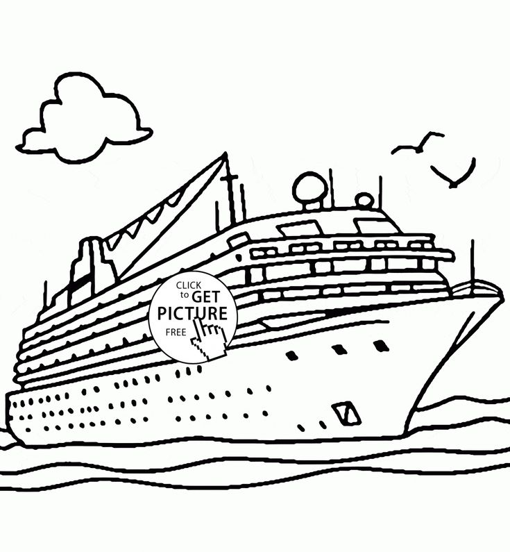 Real Cruise Ship Coloring Page For Kids Transportation Coloring Pages Printables Free