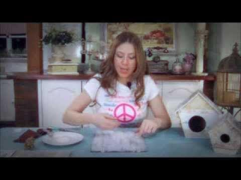 ▶ Como hacer una patina Shabby Chic. Dos técnicas: parafina y desgastada. - YouTube