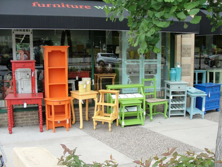 bright painted furniture. the lovely side makeover thrifted furniture with brightly colored paint looks like a rainbow bright painted i