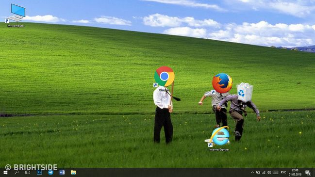 Funny And Clever Desktop Wallpapers That Are Absolutely Cool Creative Desktop Pink Wallpaper Laptop Desktop Wallpaper Funny desktop wallpaper ideas