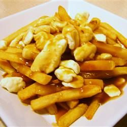 Real Poutine Allrecipes.com This is too funny that it's the recipe of the day on this site when I've just discovered it in Quebec on my trip!