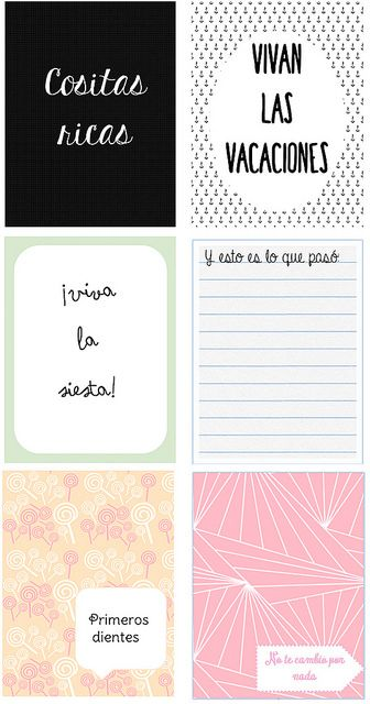 Tarjetas project life en Español