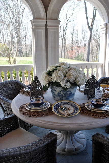 loggia tablescape at The Enchanted Home...