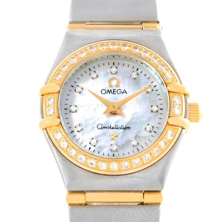 14633 Omega Constellation My Choice Mini MOP Diamond Ladies Watch 1267.75.00 SwissWatchExpo