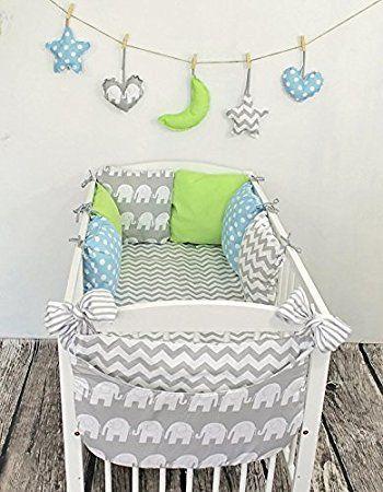 Baby Nestchen Bettumrandung 210 cm Design21 Bettnestchen Kantenschutz Kopfschutz für Babybett Bettausstattung: Amazon.de: Baby