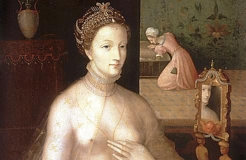 Diane de Poitiers par François Clouet. Décédée en 1566 à l'âge de 66 ans, la maîtresse du roi de France Henri II s'est probablement empoisonnée avec l'or qu'elle prenait pour entretenir sa beauté. Ses cheveux contiennent de fortes concentrations d'or, un élixir de jouvence qu'elle buvait chaque matin au réveil, pour préserver sa beauté ou pour continuer à pratiquer intensément ses sports favoris (natation, chasse et équitation).