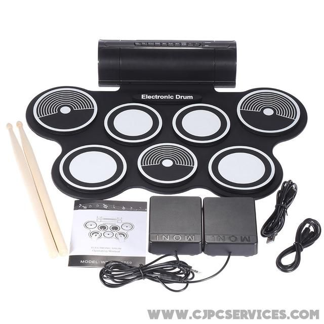 Go ahead and give this a look  Electronic Drum Pad Kit Portable Digital USB MIDI  http://www.cjpcservices.com/products/electronic-drum-pad-kit-portable-digital-usb-midi?utm_campaign=crowdfire&utm_content=crowdfire&utm_medium=social&utm_source=pinterest