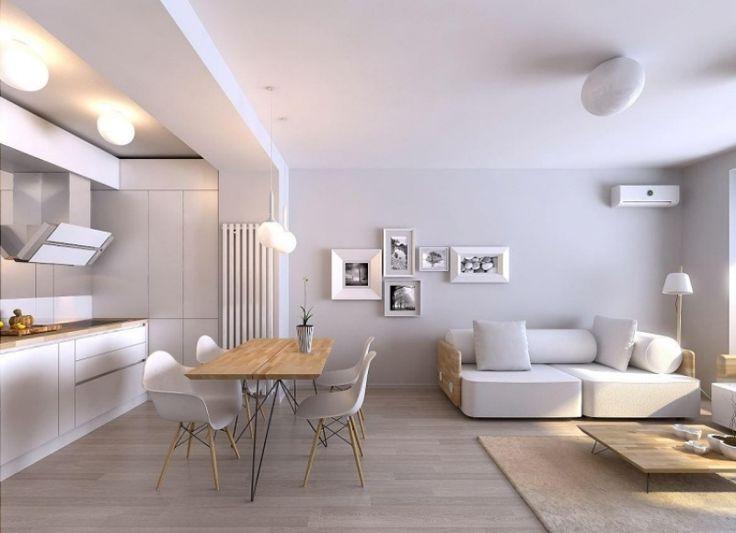 Die besten 25+ weißes Sofa Dekor Ideen auf Pinterest Wohnung - wohnzimmer mit kuche ideen