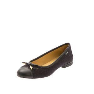 Black Women's Ballet Flats-- Wool felt Shoes