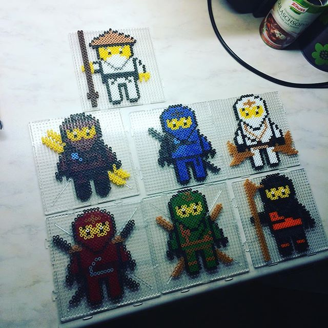 Lego Ninjago hama beads by parlnordarna