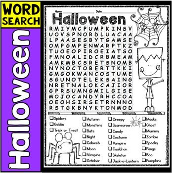 The 25+ best Halloween word search ideas on Pinterest | Halloween ...