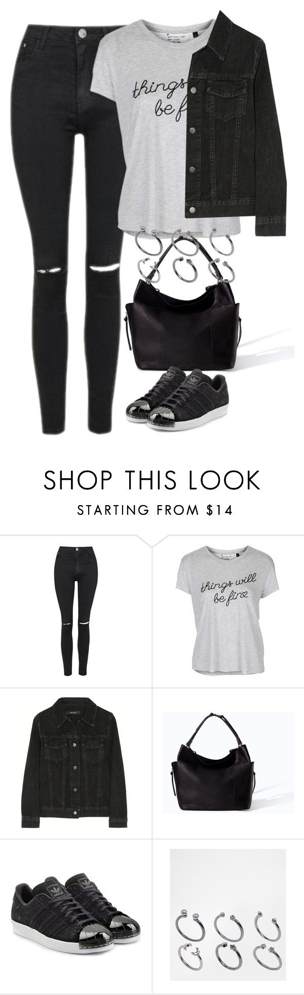 """Untitled #4062"" by keliseblog ❤ liked on Polyvore featuring Topshop, J Brand, Zara, adidas Originals and ASOS"