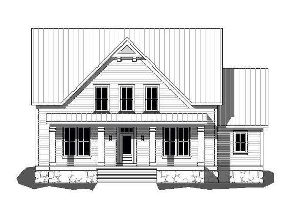 Pdf File Download This Is A Preliminary Sketch The Drawing File Includes The Front Elevation And Floor Plans It Is House With Porch House Plans Porch Design