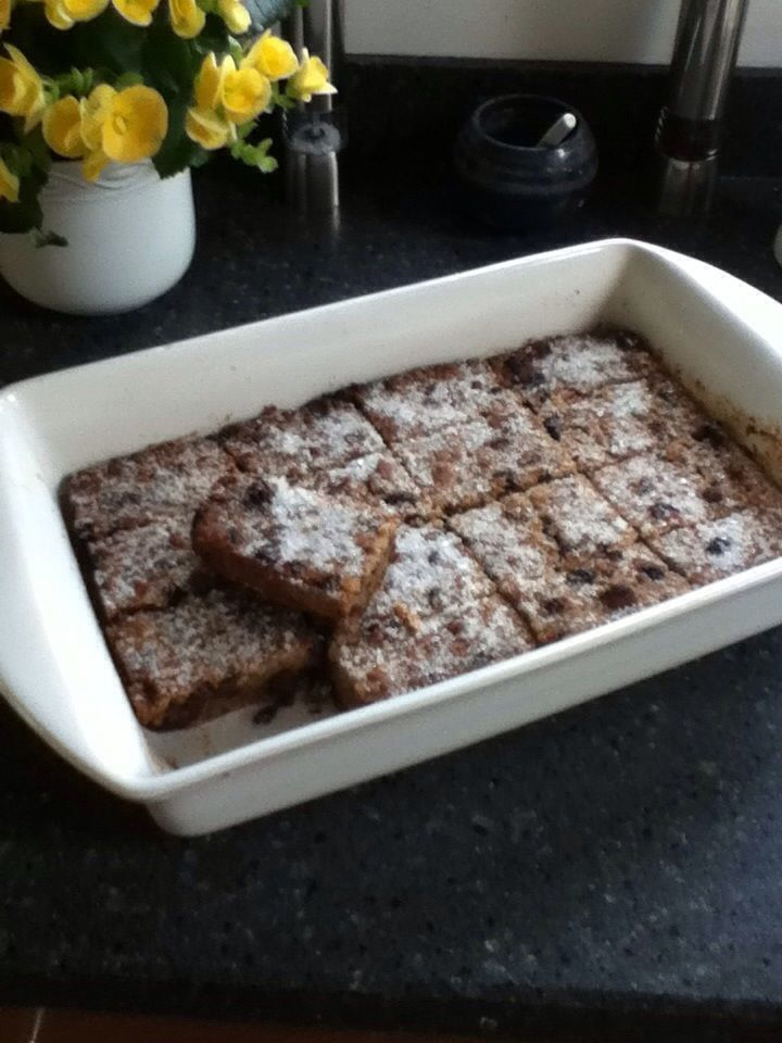 Good old, fashioned Bread Pudding. Yum!
