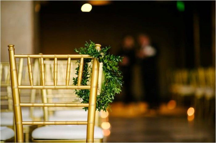 Proximity Hotel Ceremony | Navy Rustic Elegance Proximity Hotel Wedding | Julie Livingston Photography | Leigh Pearce Weddings, Greensboro North Carolina Wedding Planner, Stylist, Coordinator