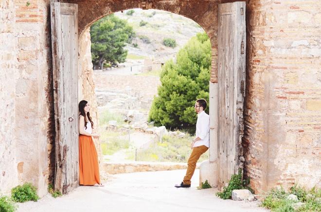 ROXandSAN | Loveshoot spain castle & beach #engagement inspiration, #castle, #authentic, #spanish, #loveshoot, #lovesession