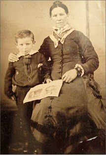 Wyatt Earp with his mother Virginia Ann Cooksey Earp c. 1856. The Earp family lived in Pella in the 1850s. : Biography from Answers.com