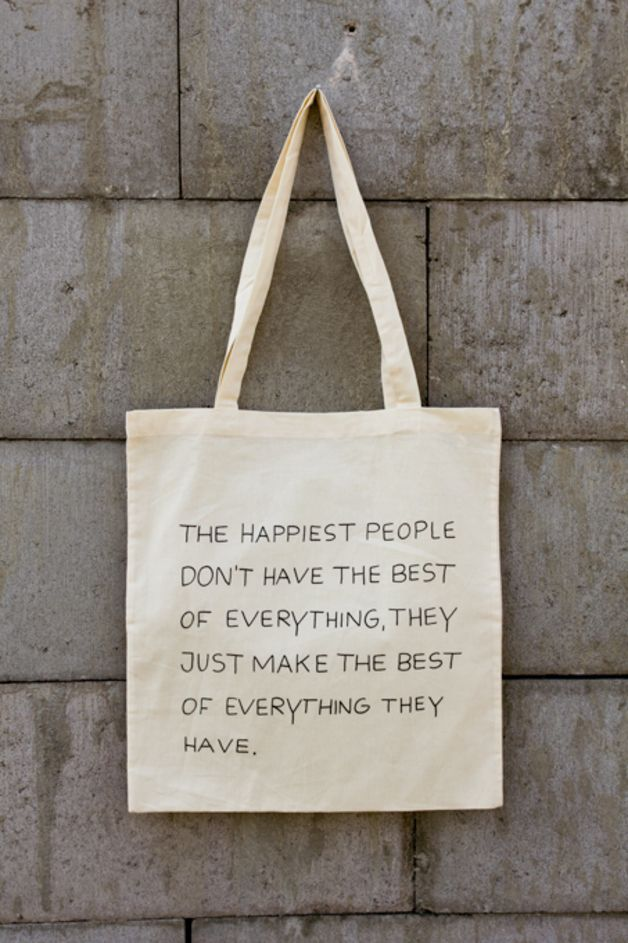"Jutebeutel ""Happy People"" // tote bag by this-is-it via DaWanda.com"