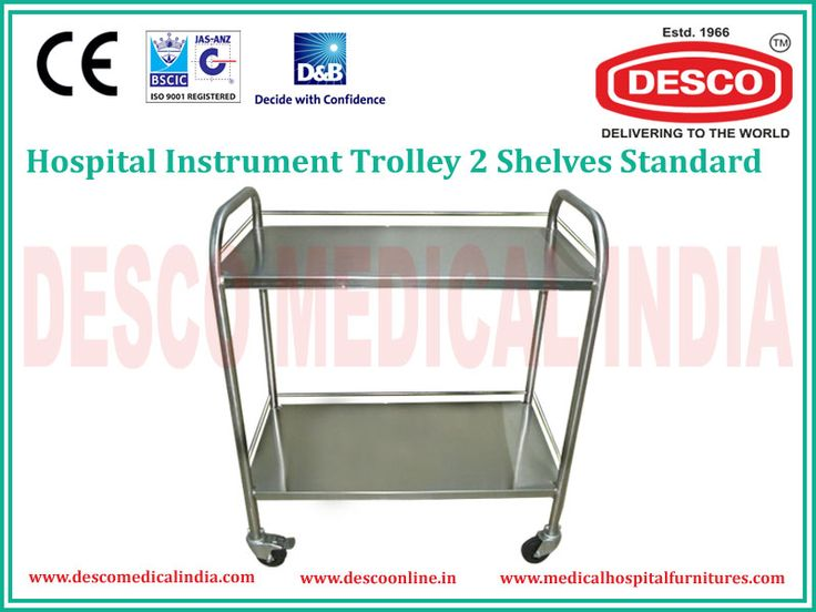 We have been manufacturing Instrument Trolley with 2 shelves in India from many years. Features are like stainless steel flat top and flat shelf, Integrated push handle at each end for easy manoeuvring.