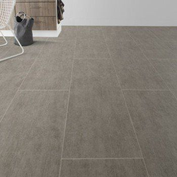 Sol vinyle Reflex light grey tile, ARTENS, 4 m   Leroy Merlin
