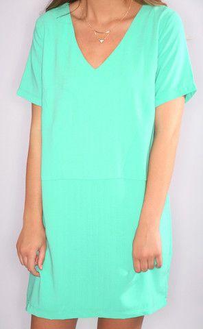 oh v oh my shift dress - emerald