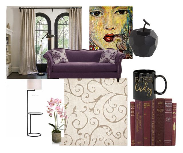 """Living room"" by oana-grigorie on Polyvore featuring interior, interiors, interior design, home, home decor, interior decorating, Safavieh, Zuo, Dot & Bo and living room"