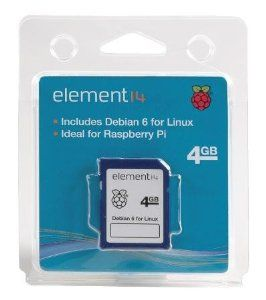 "Raspberry Pi Debian 6 ""Wheezy"" 4GB SD Card Boot Disk."